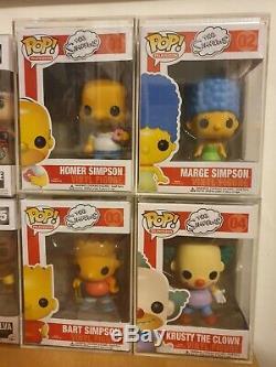The Simpsons Funko Pop Vinyle Set 2011 Voutée Très Rare