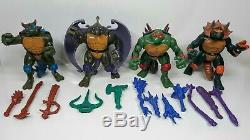Tmnt Dino Turtles 1997 Raph Leo Don Mike Grand Htf Etat Très Rare Set Lk