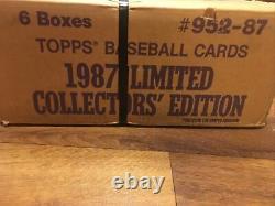 Topps Tiffany Factory Set Case 1987! Scellé! 6 Ensembles Complets! Très Rare