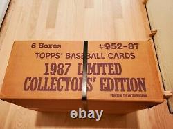 Topps Tiffany Factory Set Case 1987! Scellé! 6 Ensembles Complets! Très Rare Dernier