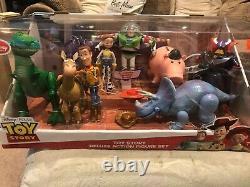 Toy Story Disney Store Pixar Deluxe Action Figure Set Stretch Trixie Très Rare