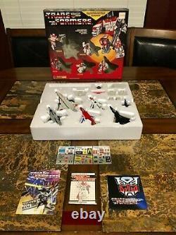 Transformers G1 Hasbro 1985 Superion Aerialbots Ensemble Cadeau Très Rare