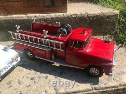 Très Rare 1958 Tonka Fire Dept Set Avec Boîte D'origine