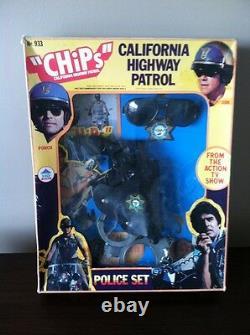 Très Rare 1977 Hg Toys Chips California Highway Patrol Police Set Playset