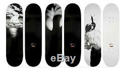 Très Rare 2011 Supreme X Robert Longo Skateboards Ensemble Complet De 3
