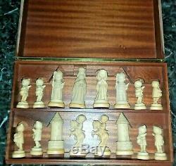 Très Rare! Anri Toriart Juvénile Par Juan Ferrandiz Chess Set (1970-1974)