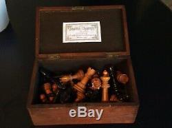 Très Rare Antique Chess Set Par Bcc Stroud