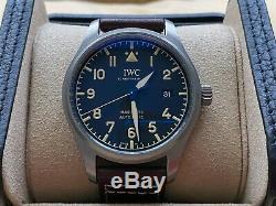 Très Rare Aviateur Iwc Mark XVIII Patrimoine Titane Montre Iw327006 En Full Set