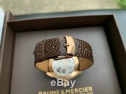Très Rare Baume & Mercier Clifton 1830 Montre En Or Rose 18 Carats Moa10060 Full Set