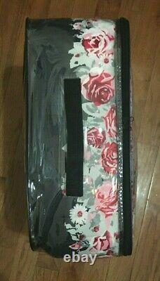 Très Rare Betsey Johnson Banded Floral Full Queen Comforter + Sham Set