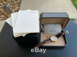 Très Rare Blancpain Villeret Ultra Or Rose 18 Carats Slim Big Watch Date Full Set