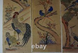 Très Rare Coréen Joseon Dynasty 18ème19ème Siècle 8 Panneau D'écran