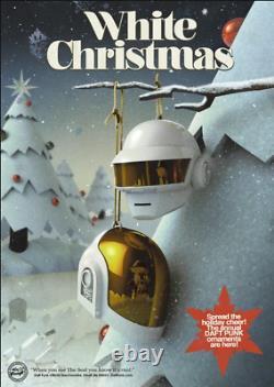 Très Rare Daft Punk Limited Edition Ornament Set White Christmas