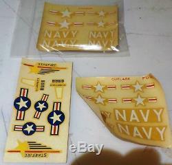Très Rare Début Revell Cadeau Set'53 3 Fighters Jet Américain F-94c, F-7, F-9