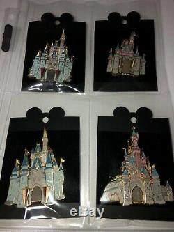 Très Rare! Disney Casting De La Série Castle Membre Jumbo 3d Set Pins De 4 Marque Nouveau