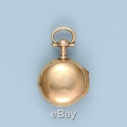 Très Rare Et Or Avec Diamants Montre Bague (peut-être Plus Petit Connu Fusée Watch)