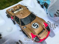 Tres Rare Exoto 118 1966 Ford Gt40 Mkii Gift Set # 2, # 1, # 5 1-2-3 Gagnants