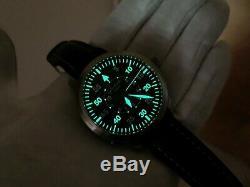 Très Rare Glashutte Original Sénateur Navigator Flyback Secondes Watch Set Complet