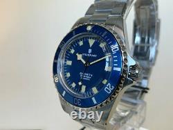 Très Rare Nouveau Steinhart Ocean 39 Marine Blue Limited Edition Watch En Full Set
