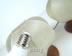 Très Rare Original 60s Cocoon MID Century Danish Modern Pair Set 2 Lampes De Table