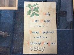 Très Rare Originale Encadrée Princesse Mary Set Fonds De Noël L'art Des Tranchées