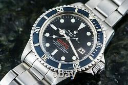Très Rare Rolex Sea Dweller 1665 Mk2 Thin Case Full Set Punched Papers