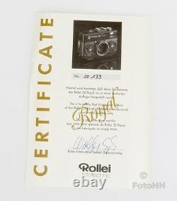 Très Rare Rollei 35 Royal Situé Stirnehimmel En Mode D'affichage En Bois Boîte