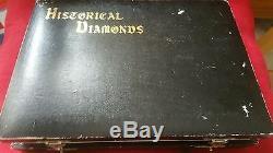 Très Rare Vieux De 15 Diamants Historiques Fixés, Tous Sans Faute De Grande Taille De La Vie Carats
