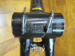 Très Rare Vintage Columbus Simoncini Slx Steel Set Route Crantée Cadre Vélo 56 CM
