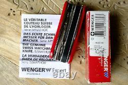 Très Rare Wenger Minathor Bergeon Evo Watchmaker Outil Mis Couteau Suisse Sak