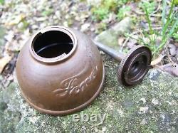 Très Vieux 1900s Original Ford Motor Co. Auto Can Huile Accessoire Vintage Kit D'outils