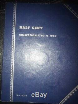 Us Half Cent Ensemble Complet 1793-1857 Très Rare