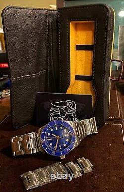 Vente! Très Rare Borealis Bull Shark Blue Automatic 2000m Divers Watch Box Set