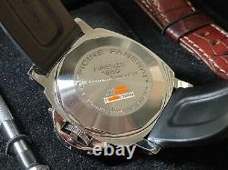 Very Rare 2006 Panerai Pam00088 Pam 88 Luminor Gmt Montre Automatique En Full Set
