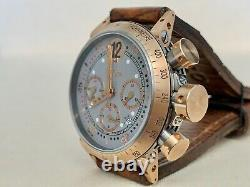 Very Rare B. R.m 18k Rose Gold V8 Chronograph Gold Collection Watch En Full Set