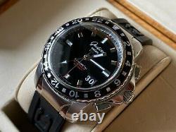 Very Rare Glashutte Original Sport Evolution Gmt Steel Watch En Full Set