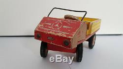 Vintage 40 50's Lego Mercedes Unimog Bois Danemark Mursten Système Très Rare