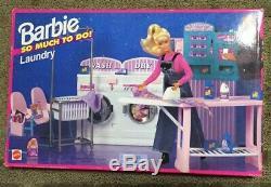 Vintage Barbie Buanderie Play Set Beaucoup À Faire Toys Tres Rare Nouveau Dans La Boîte