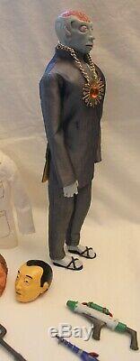 Vintage Capitaine D'action Dr. Evil Figure Avec Rare Lab Set-very Nice Sans Boite