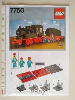 Vintage Lego 12v Trains 7750 Vapeur Moteur Avec Moteur Rouge, Très Rare