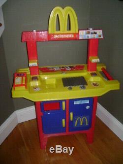 Vintage Mcdonalds Drive Thru Playset Play Set Sounds Pretend Très Rare