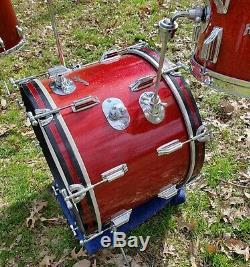 Vintage Rogers Cleveland 12,16,20 Drum Set Rare Très Fermer #s Série