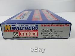 Vintage Walters Arnold Santa Fe Train N Echelle Passagers Set 125-503 Tres Rare