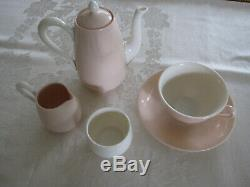 Vtg Très Rare Lenox Bone China 10 Pc Pour Un Petit-déjeuner Set Ivory & Rose Mint