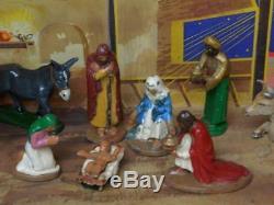 Wend-al Incassables Toys Très Rare Vintage 1948 Boxed Set Aluminium Nativité
