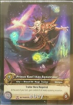 World Of Warcraft Tcg Prince Kael'thas Sunstrider Ud Employee Set. Bleu